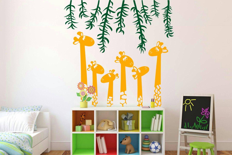 Giraffe decal- giraffe decor- nursery decor- giraffe wall decal ...