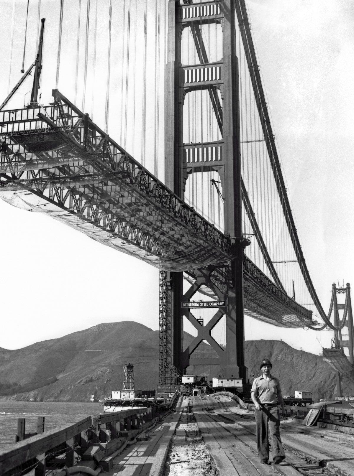Golden Gate Bridge Builders Ate Special Meals To Prevent Dizziness Golden Gate Bridge Bridge Construction Golden Gate