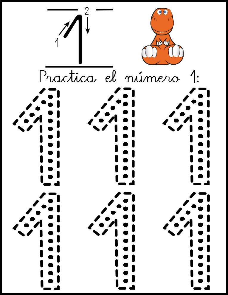 Lectoescritura de números el número 1 | Lógico | Pinterest | Números ...