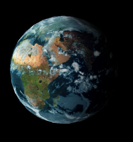 Three dimensional Earth. (Use the keyword wesp333 on Google for my blog)