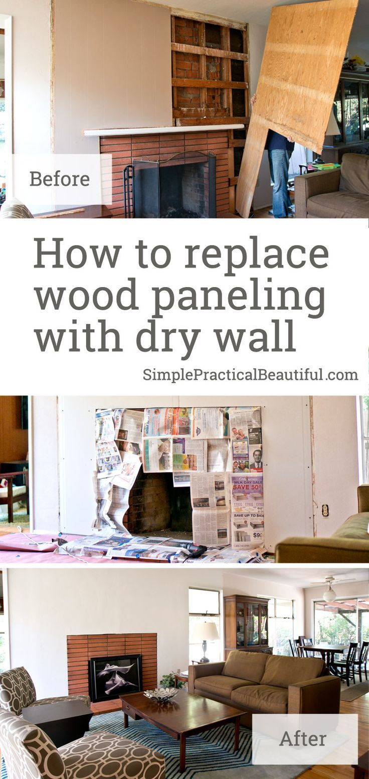 How to Replace Wood Paneling with Dry Wall | Wall textures, Woods ...