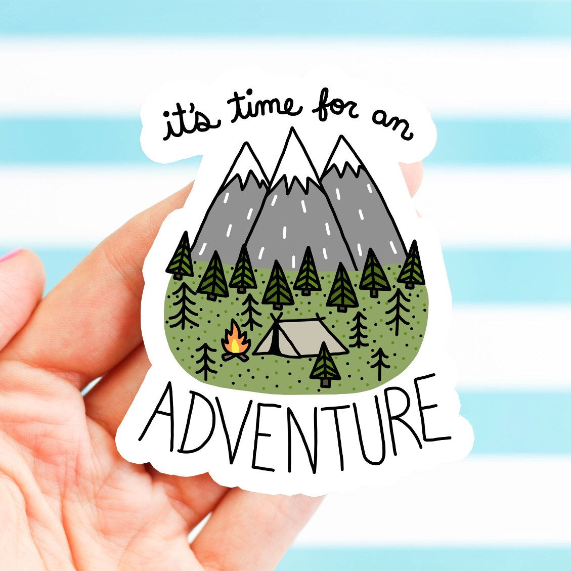 Adventure sticker dad fathers day gift bike stickers nature bumper stickers