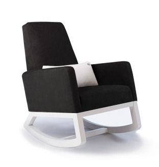 Gorgeous black and white rocker. (Much more practical than the white one that one of us had. Ahem.)