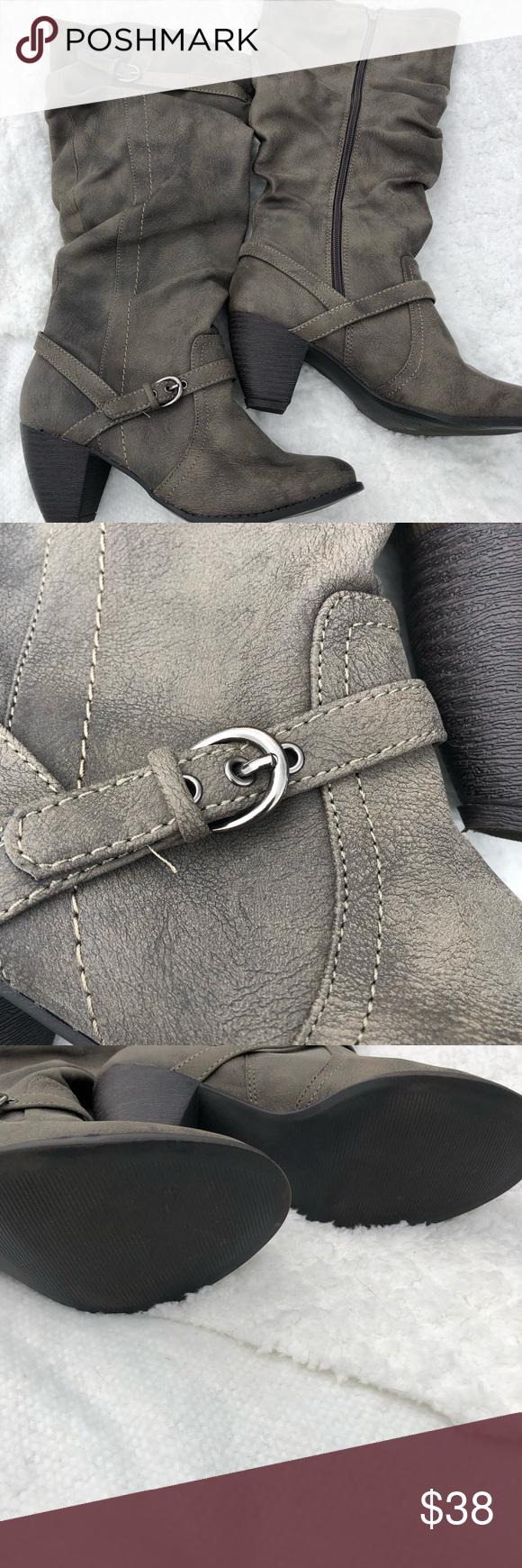 Dark gray jelly pop Nielsen tall boots