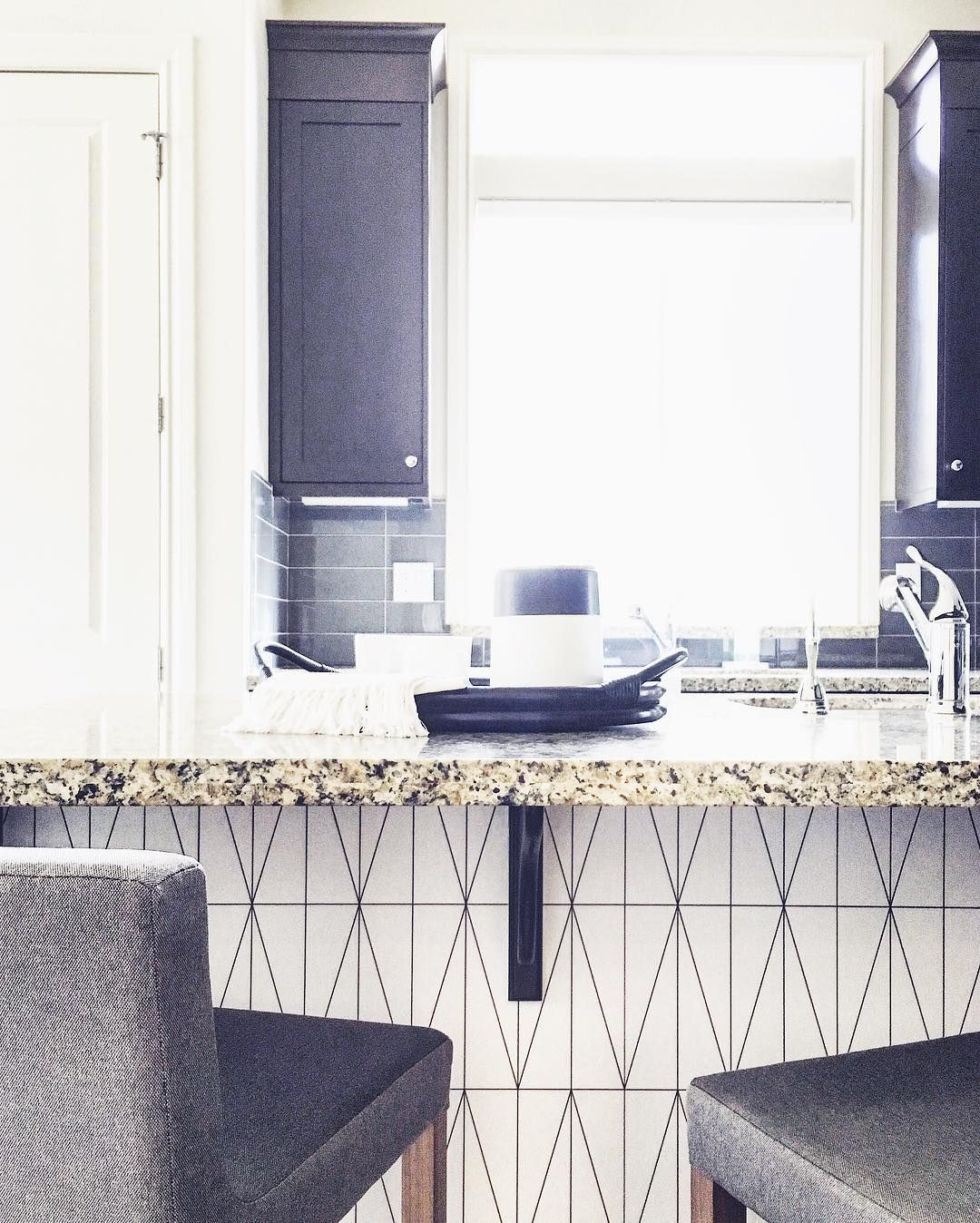 Why Not Give Your Kitchen Island A Makeover With Removable Wallpaper Love All The Right Removable Wallpaper Kitchen Wallpaper Kitchen Island Kitchen Design