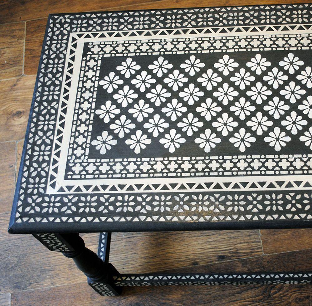 stenciling furniture ideas. furniture ideas stencilled table top using stencils from nicolette tabram annie sloan chalk paint stenciling t