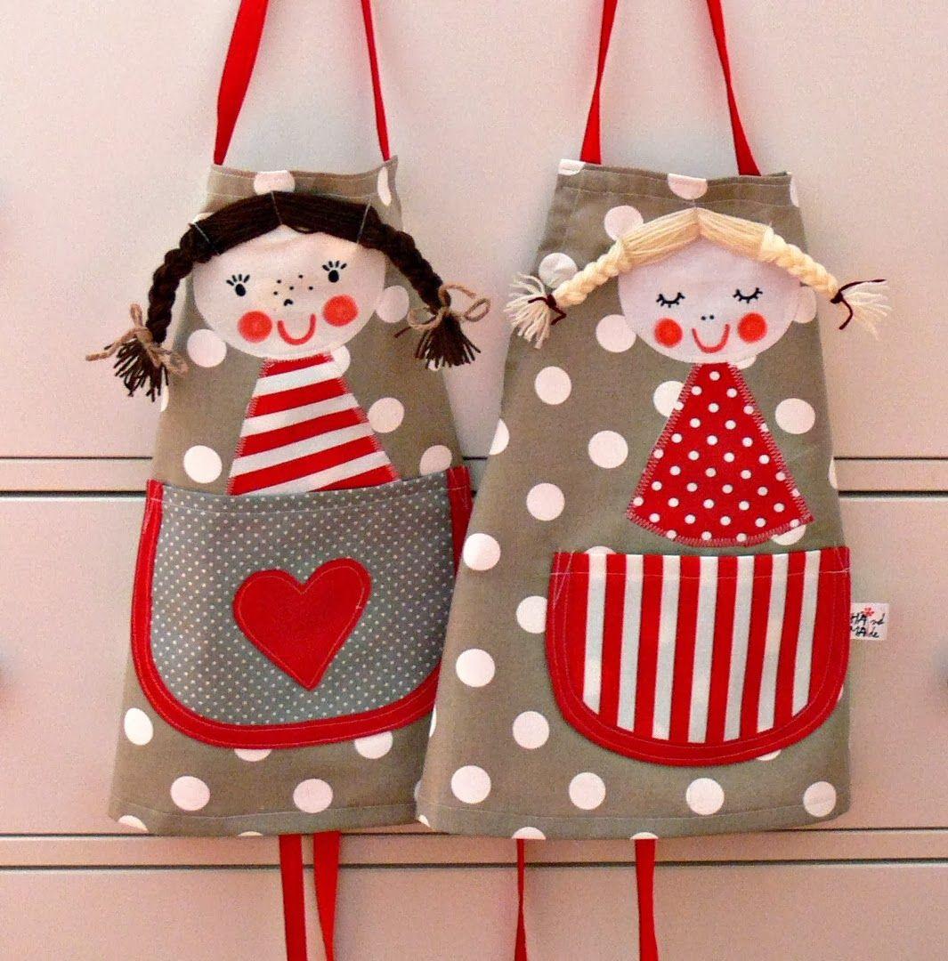 Delantales little aprons ideas para nuestras telas - Delantales y gorros de cocina para ninos ...