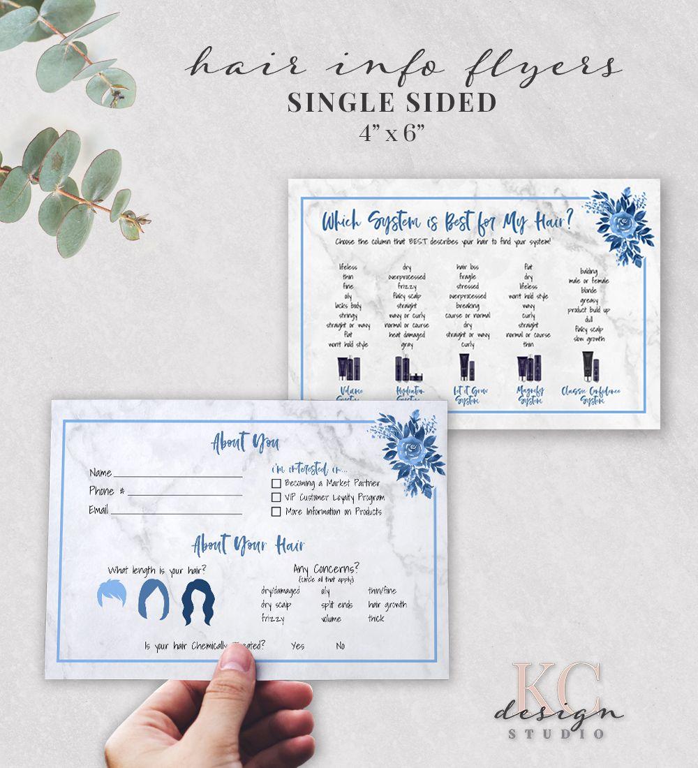 Monat Hair Care Cards, Blue Monat Hair Quiz, Monat Systems