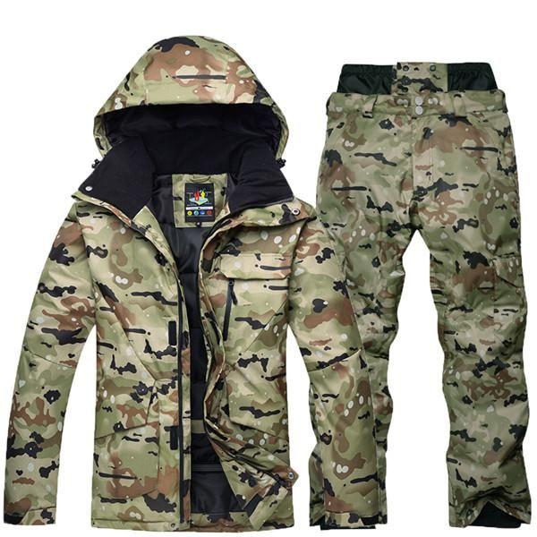 b0c03484dd SAENSHING Camouflage Ski Suit Men Waterproof Ski Jacket Snowboard Pant Warm  Breathable Snowboarding Suits Outdoor Ski Clothing
