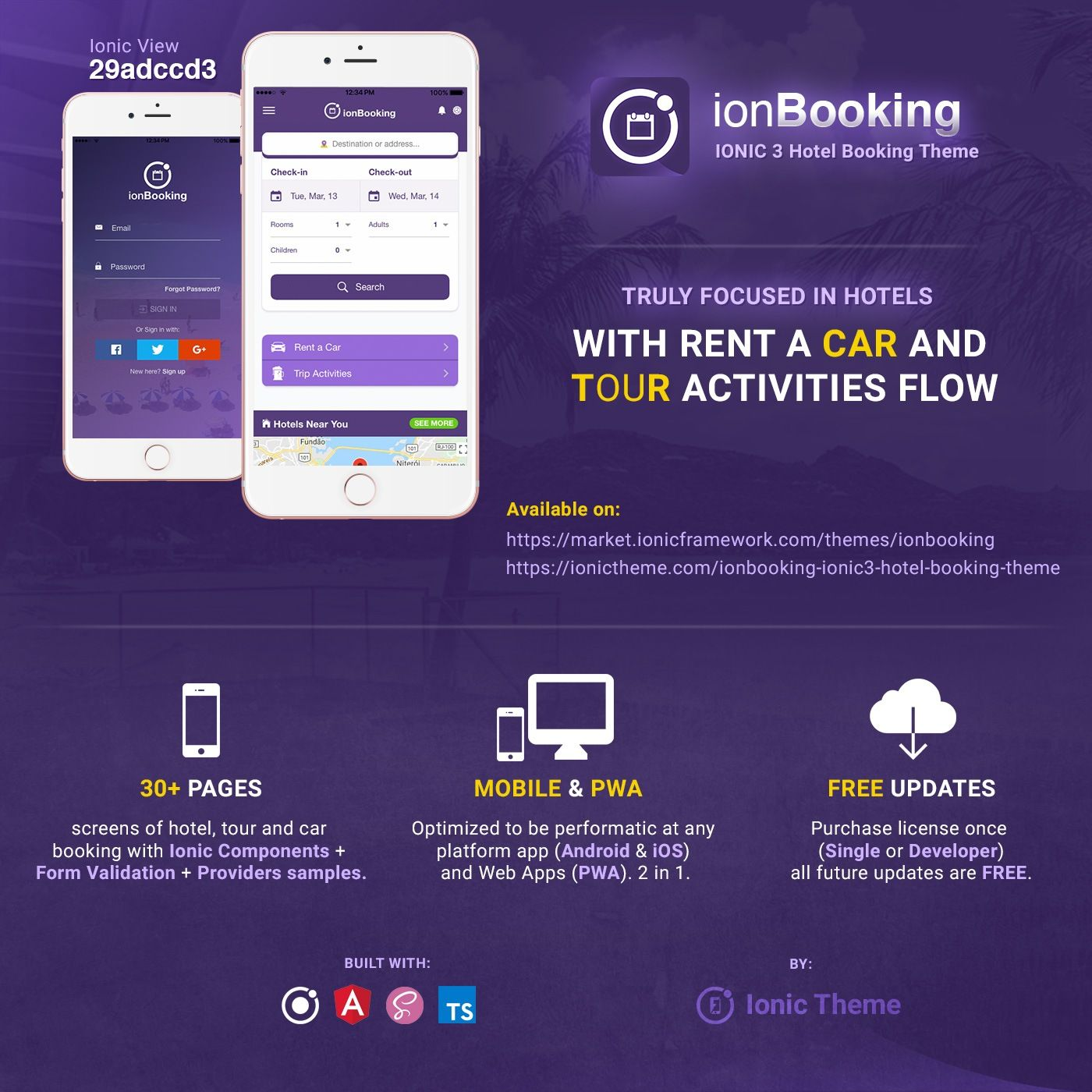ionBooking 1.4 Completely Refactored Truly focused in