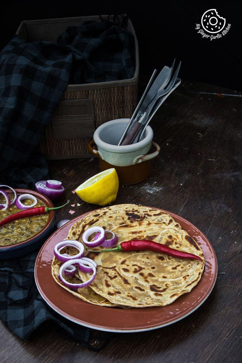 lachha paratha 3 ways how to make multi layered paratha recipe paratha food recipes on hebbar s kitchen recipes laccha paratha id=58434