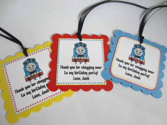 thomas the train party favor tags yousef s bday party ideas
