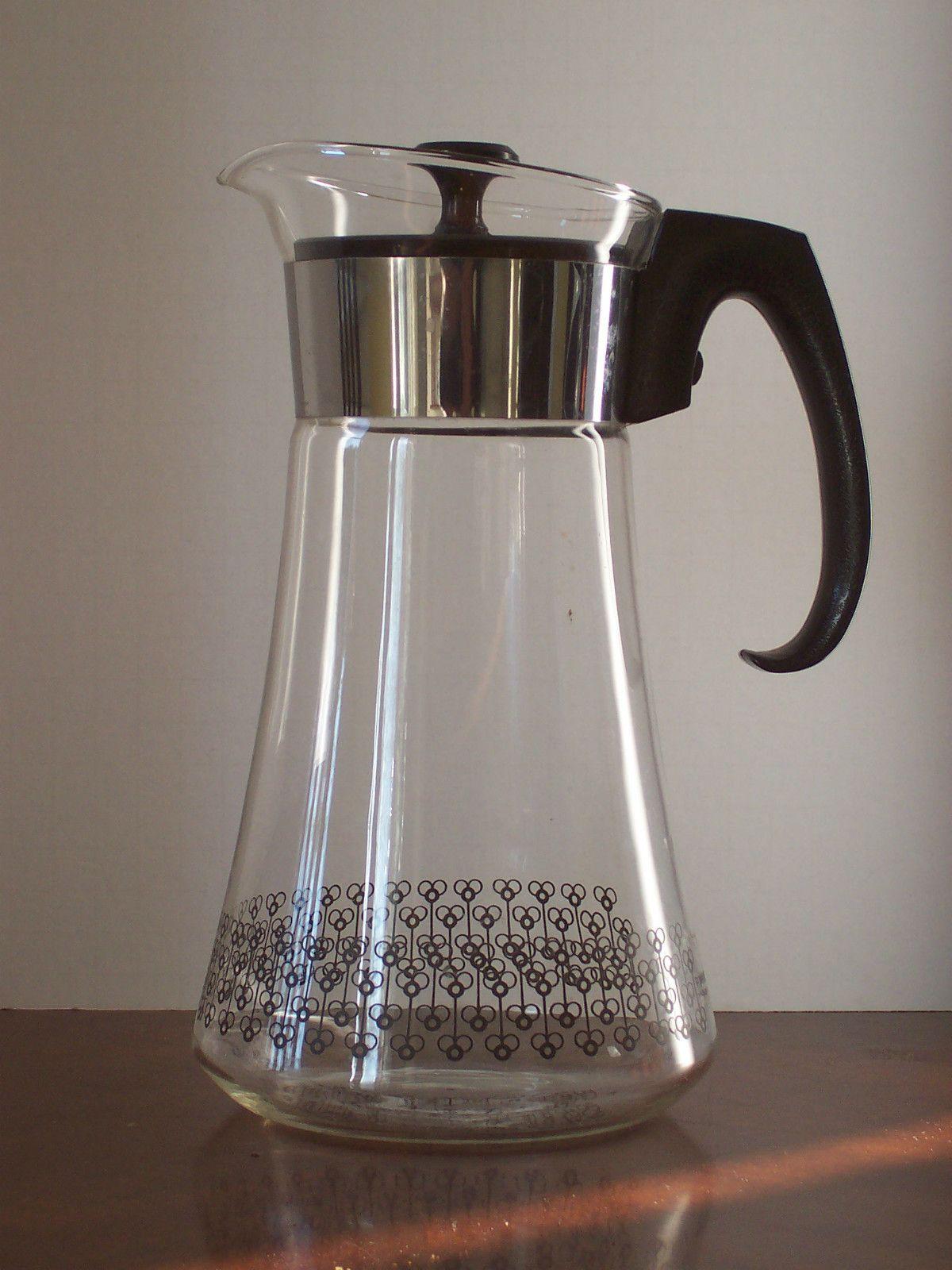 Vintage Pyrex Coffee Pot Carafe Made In Usa Coffee Pot Pyrex Vintage Pyrex