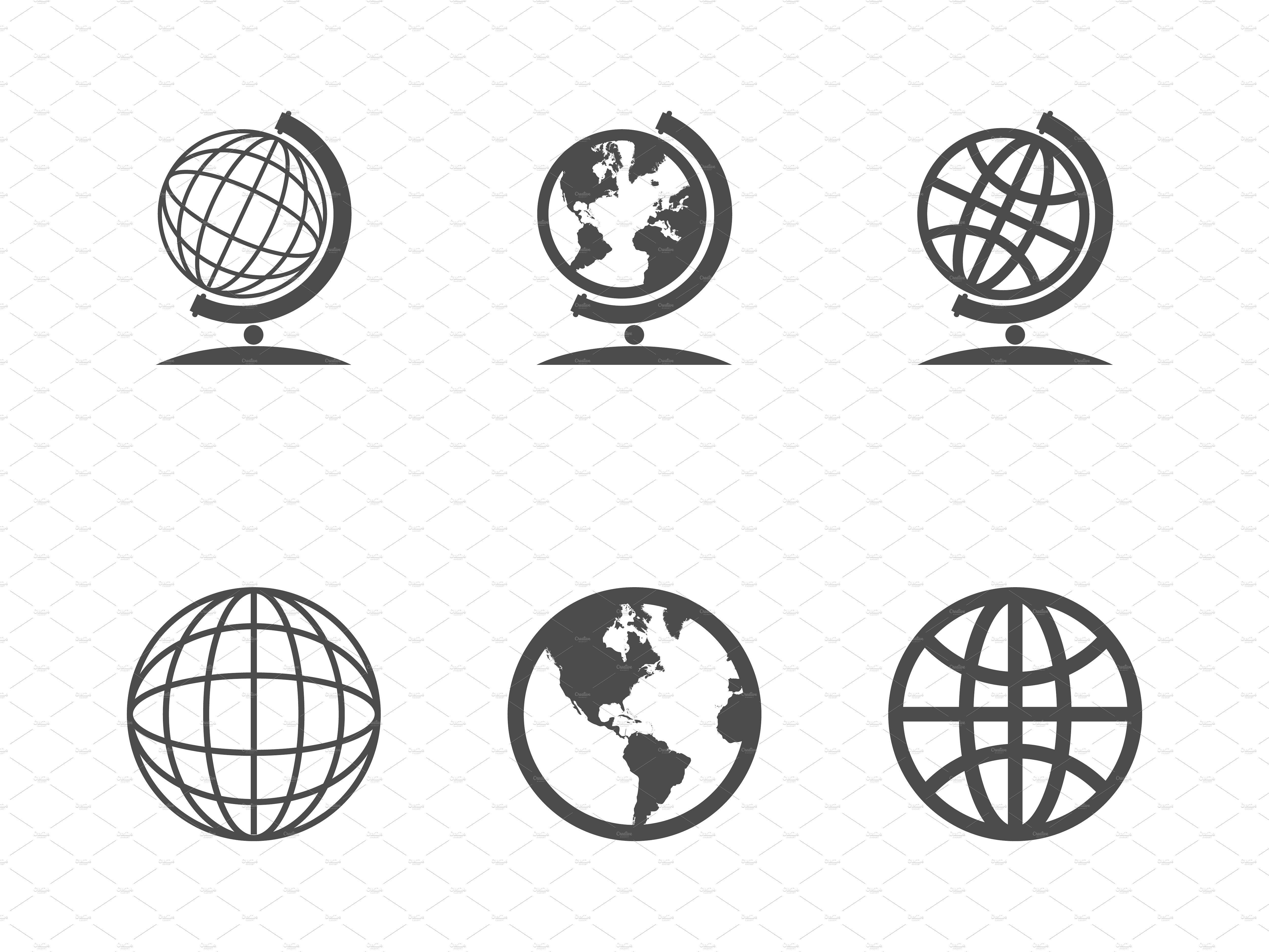 Globe Icons Globe Icon Icon Pictogram