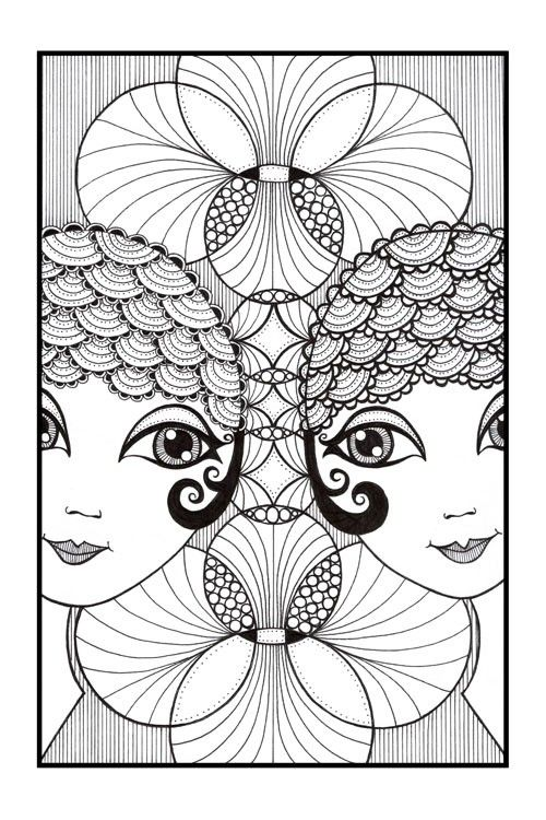 This is an earlier work Ive decided to restock as its one of my favourites :) Part of a series of showgirls, these are my twin art deco ispired
