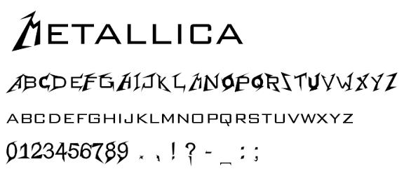 metallica font full alphabet - Google Search   FONTS   Free