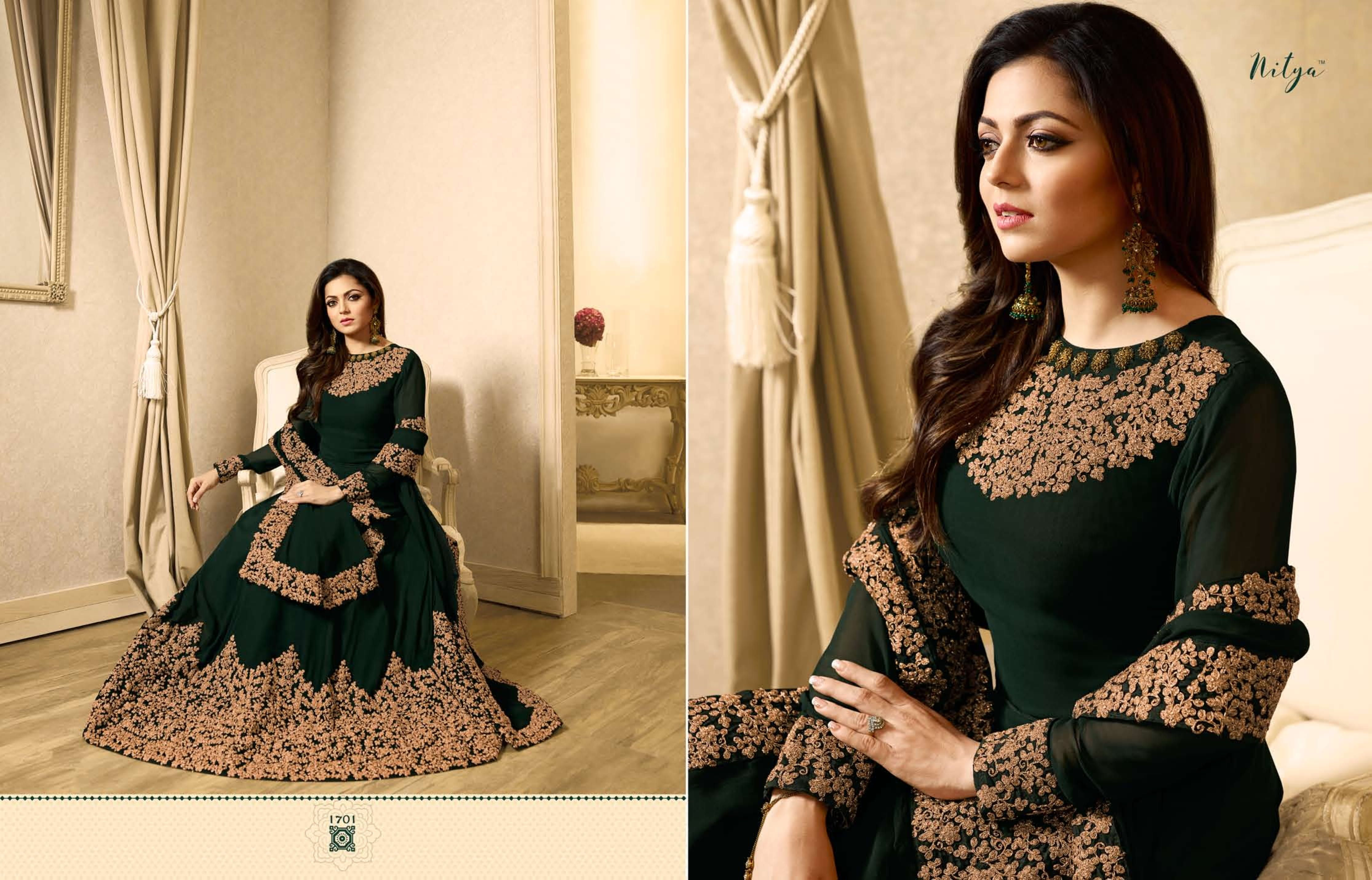 06c576f4813 LT Fabrics Nitya Vol-117 1701-1710 Series Collection Designer Embroidered  Party Wear & Festive Look Designer Anarkali Style Suit Bollywood Party Wear  Single ...
