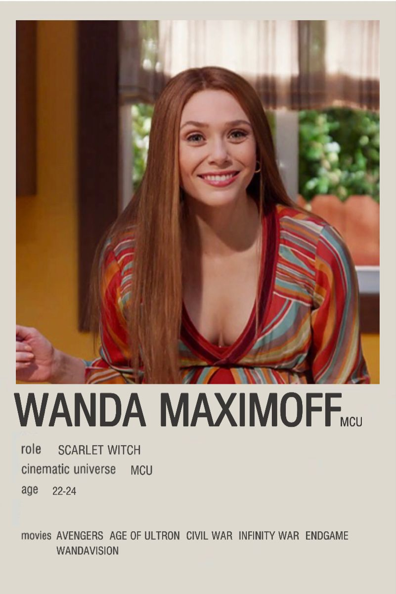 Wanda maximoff minimalist poster