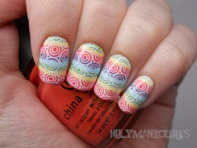 Rainbow Target Manicure by Holy Manicures