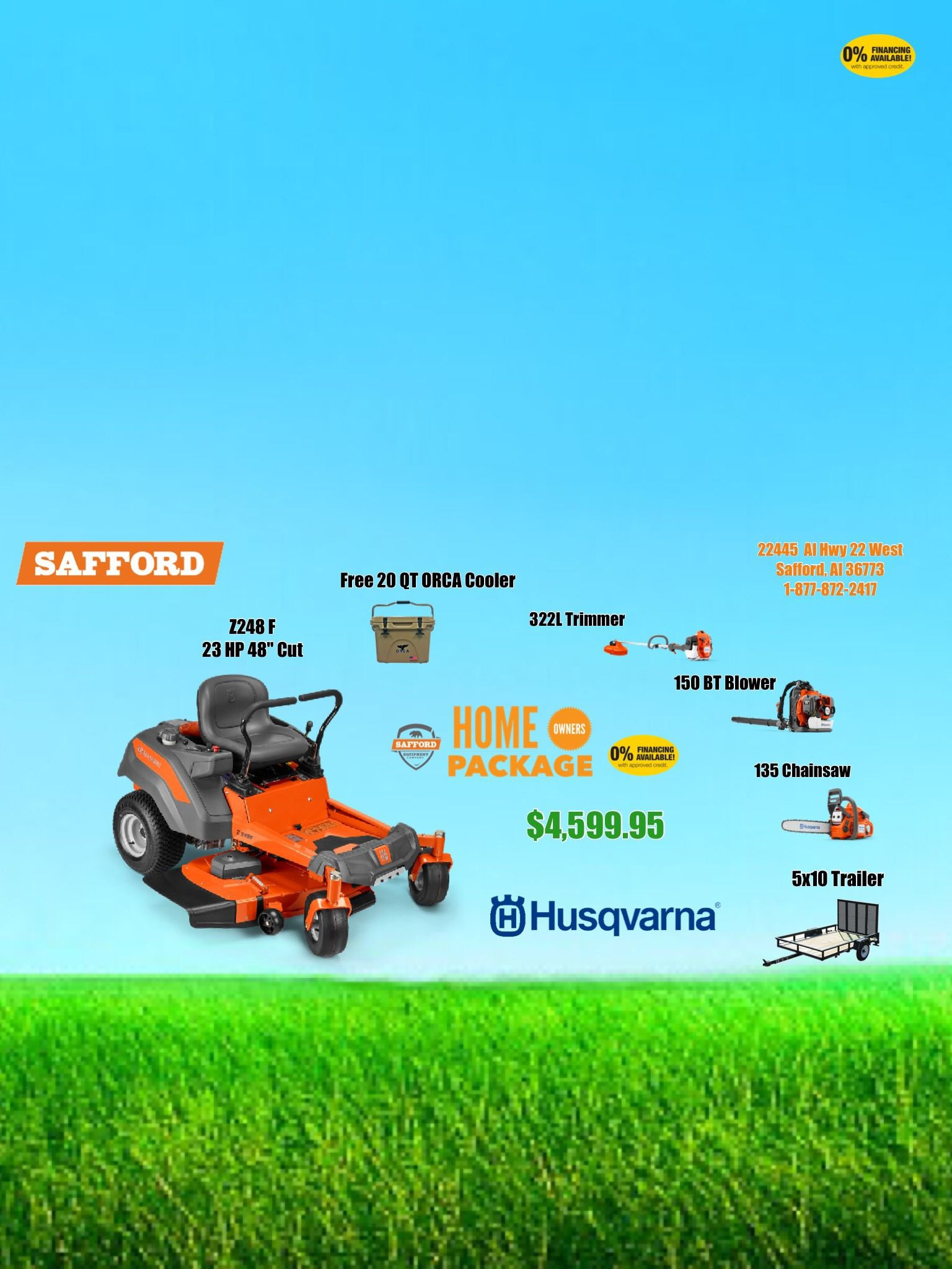 1 877 872 2417 Safford Equipment Alabama Husqvarna Dealer husqvarna