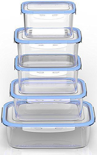 Royal Glass Food Storage Containers 10 Piece Set BPA Free and