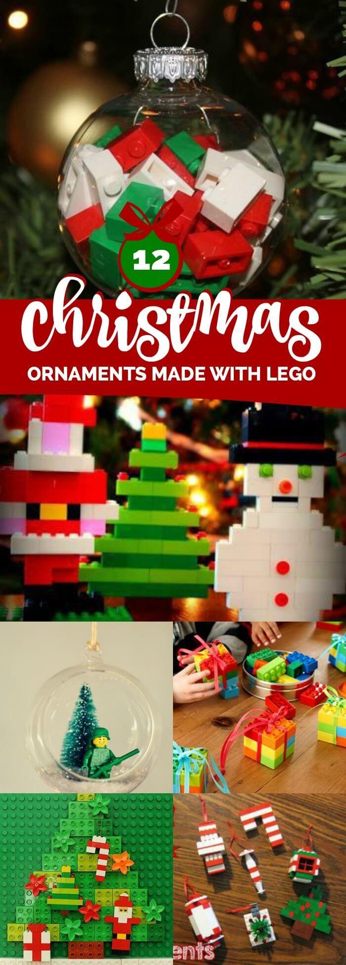 christmas ornaments made with lego via spaceshipslb christmas