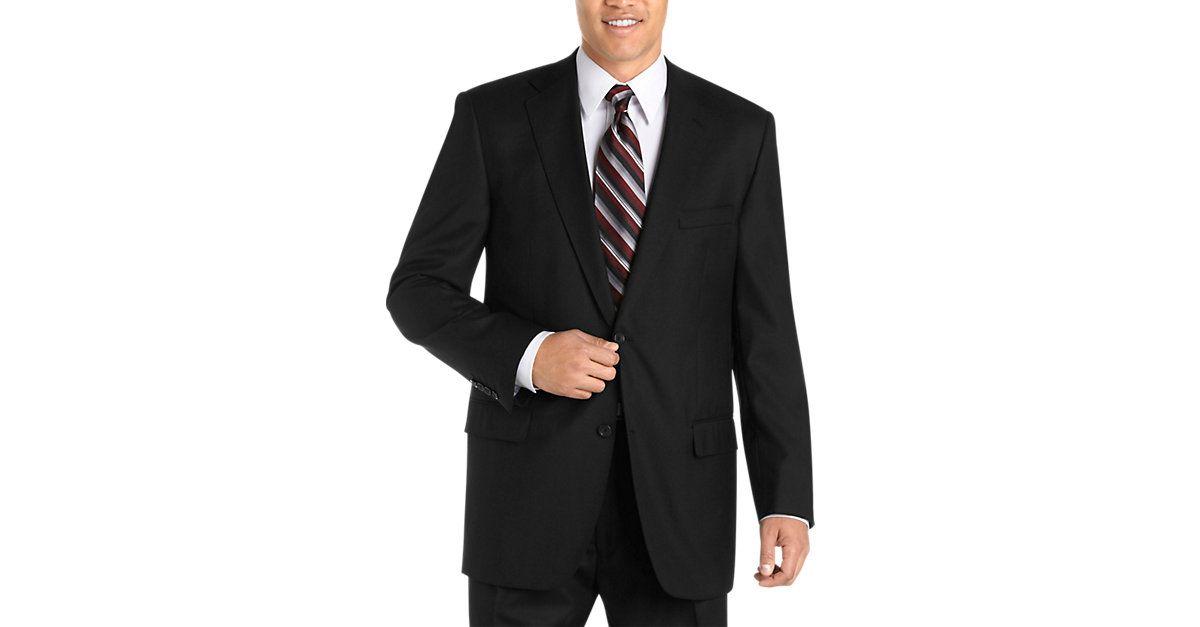 Joseph & Feiss Gold Portly Suit,Black - Portly | Men's ...