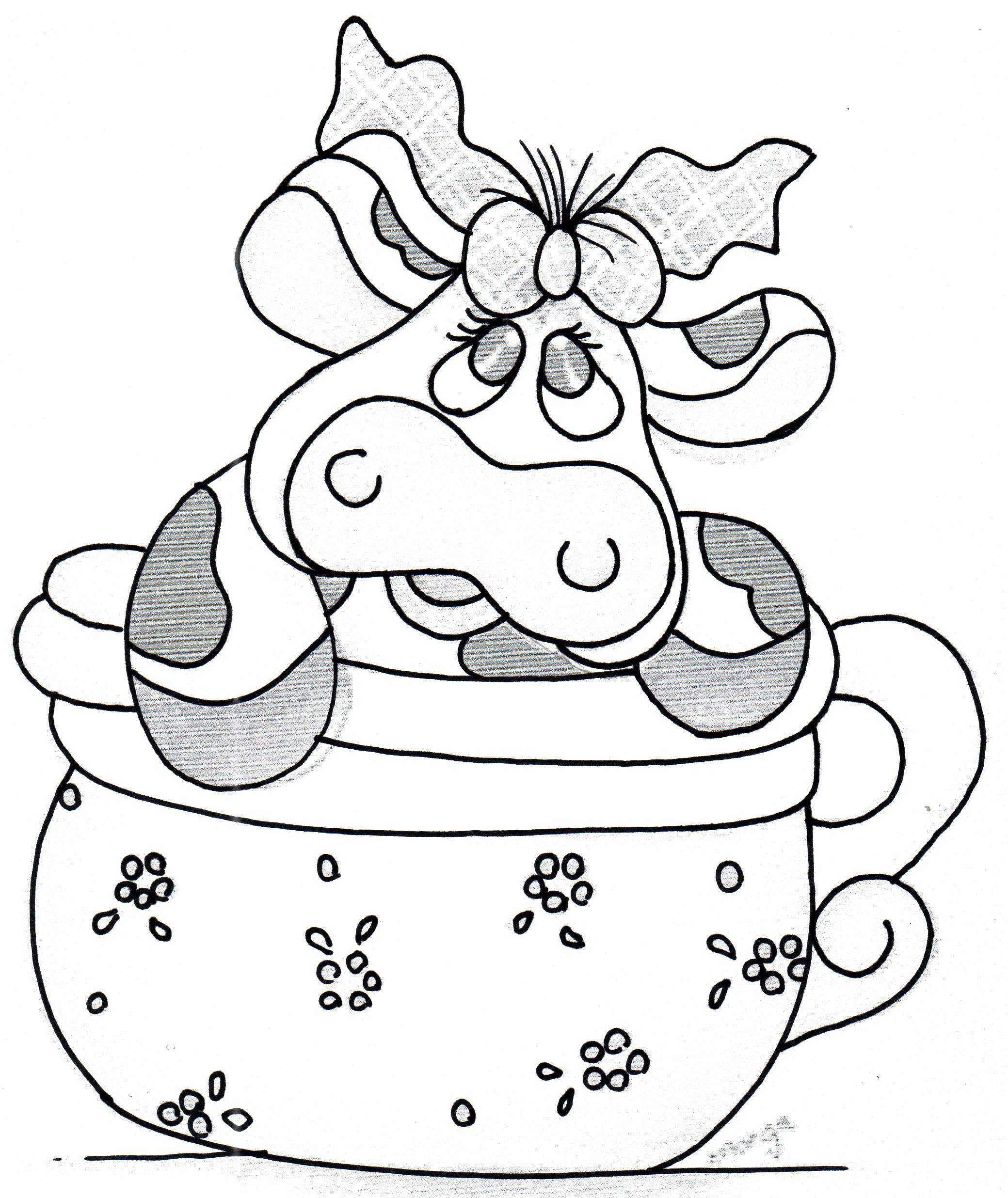 Pin En Vacas Para Pintar En Tela