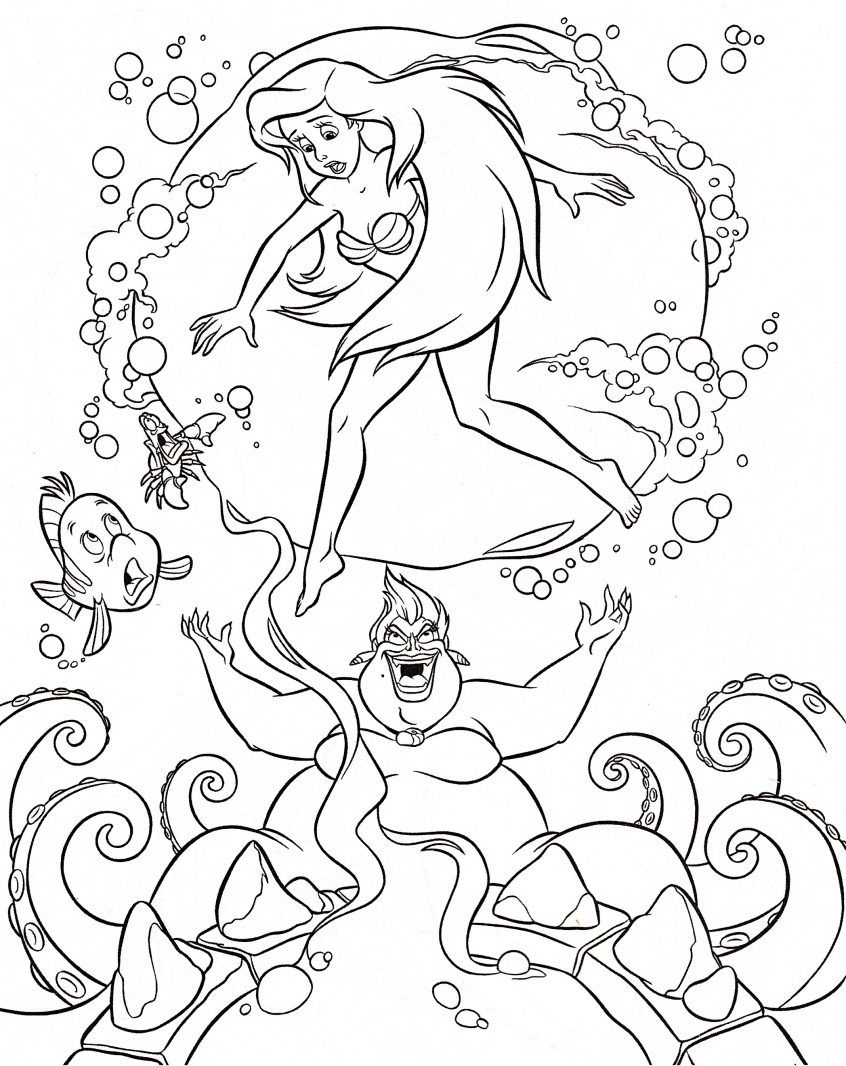 Ursula Coloring Page Google Search Ariel Coloring Pages Disney Princess Coloring Pages Disney Coloring Pages