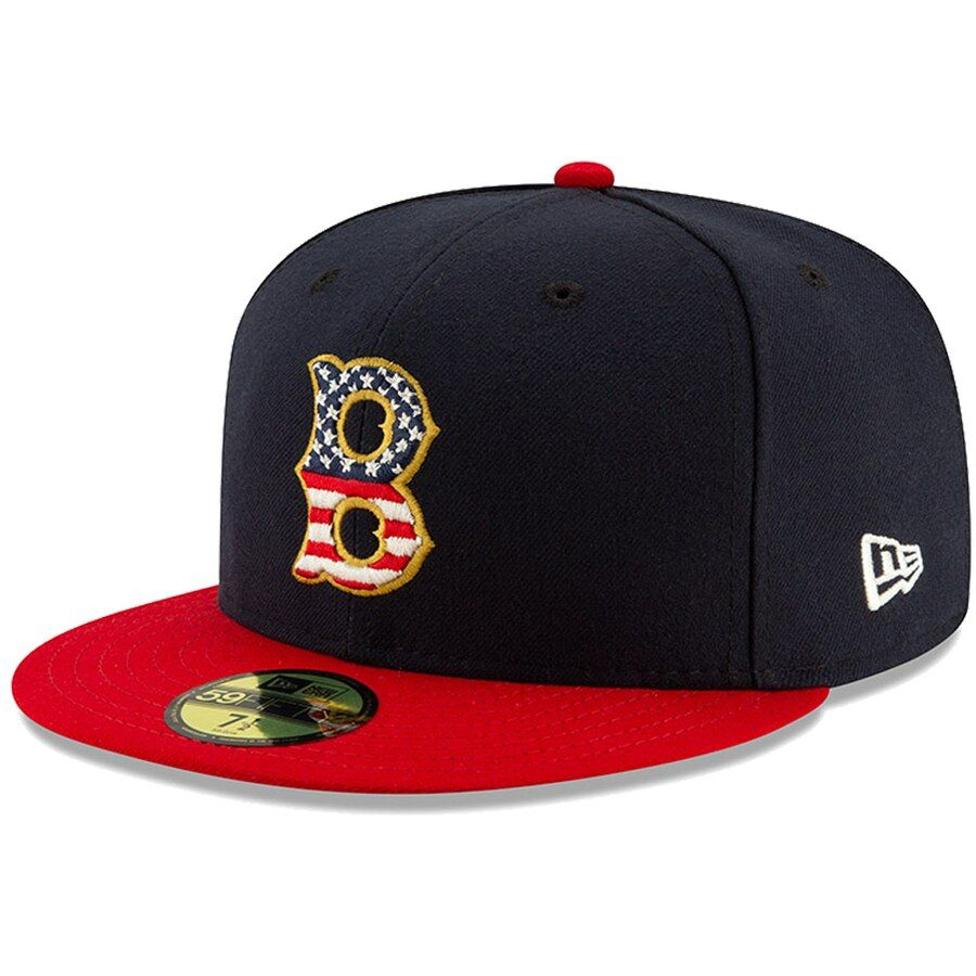 Boston Red Sox New Era 2019 Stars Stripes 4th Of July On Field 59fifty Fitted Hat Navy Red Boston Red Sox Boston Red Sox Hat Red Sox Hat