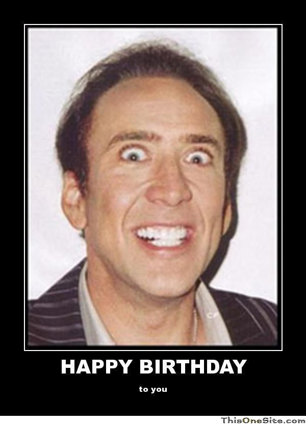 Nick Cage Birthday Meme