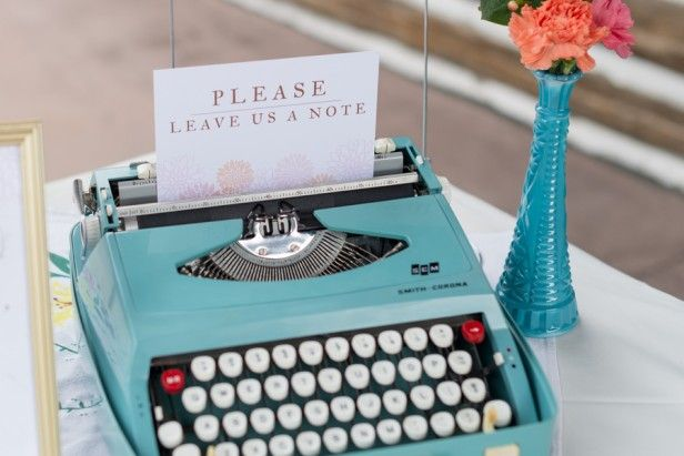 Typewriter notes! Love.  Denise + Andrew | Hudson Gardens Wedding | Rocky Mountain Bride
