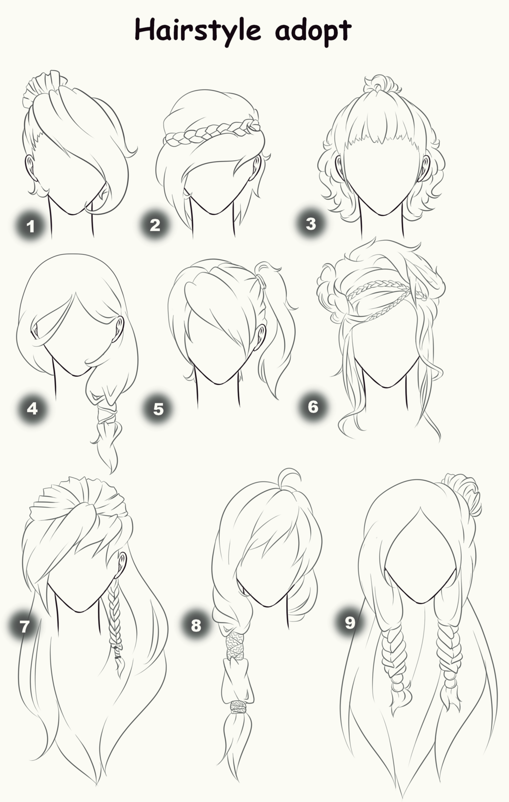 Hairstyle adopts closed by x3misteryyuyux3 deviantart com