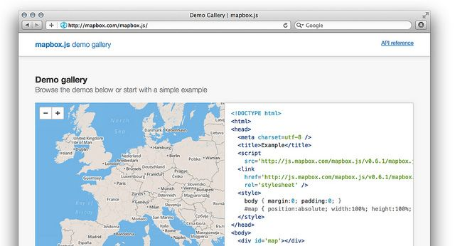 MapBox Javascript API Examples by MapBox, via Flickr | Data