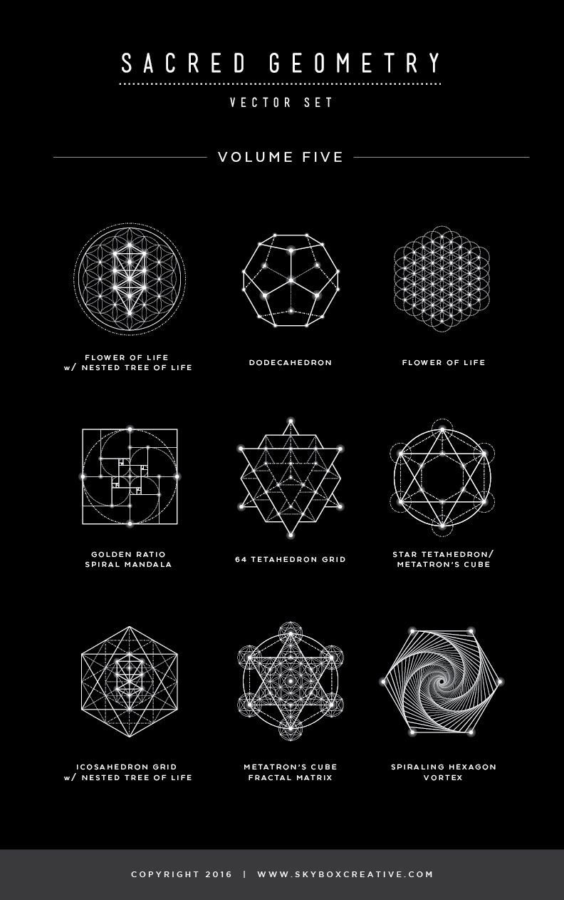 Sacred Geometry Vector Illustrations - Vol  5 Naming Guide