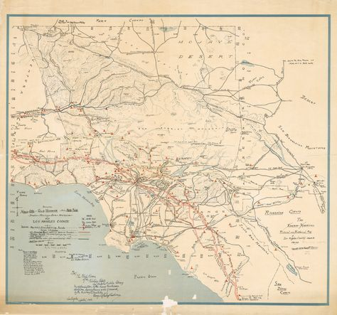 This Vintage Map Of La Illustrates The County S Layout Between 1860 And 1937 Take A Look And You Ll Find L A S Los Angeles Map Map Native American Village