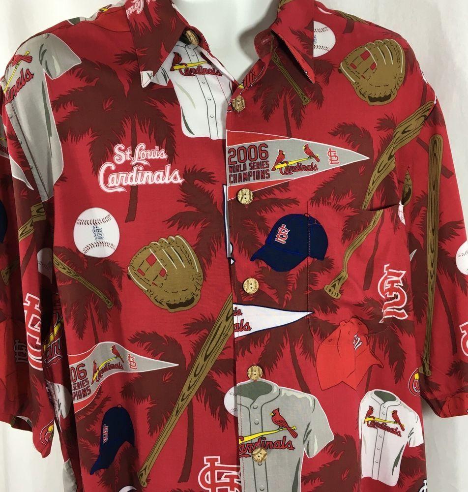 super popular 10c1e 5a93f St Louis Cardinals MLB Reyn Spooner Hawaiian Shirt Size Large L 2006  Baseball   eBay  StLouisCardinals  ReynSpooner