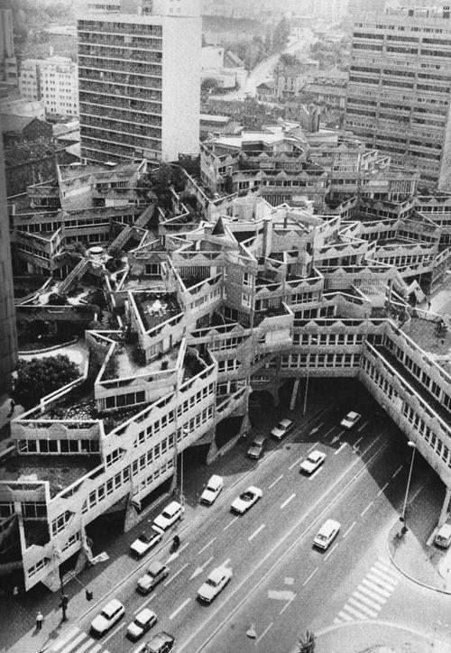 jean renaudie renovation du centre ville ivry sur seine 1975 brutalism pinterest. Black Bedroom Furniture Sets. Home Design Ideas
