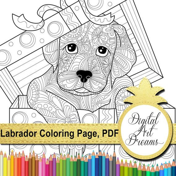 labrador retriever coloring page dog colouring book printable puppy coloring pages of animals pdf puppies to print digital labrador art