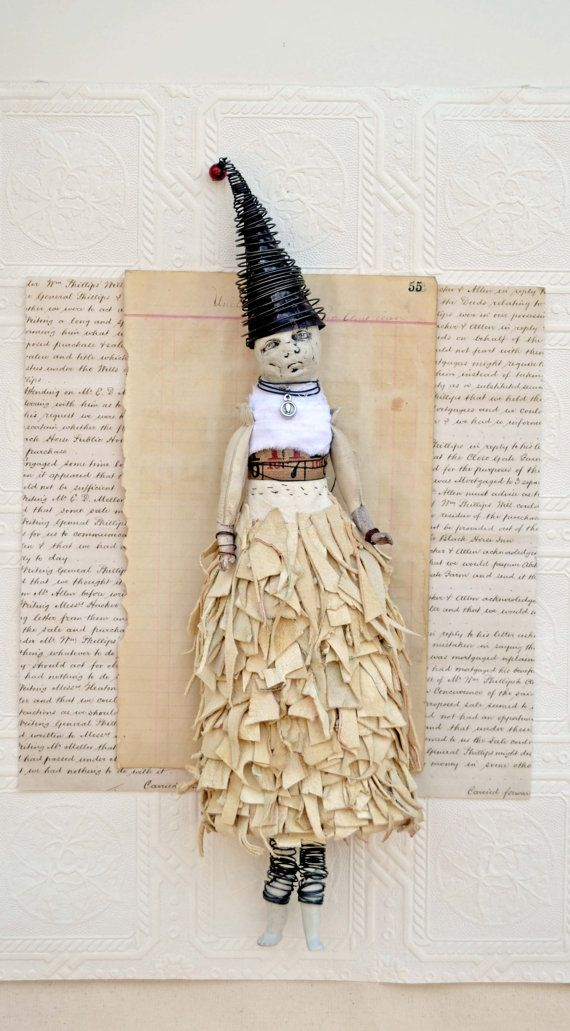 Original Mixed Media Art Doll Coco by Indiandollartworks on Etsy, $240.00