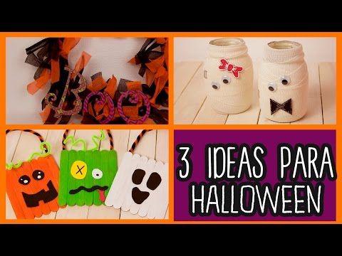 Decoraciones para Halloween 3 Ideas fáciles - Manualidades para - halloween diy ideas