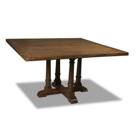 South Cone Home Victoria Square Dining Table 60 Inch Top Cognac