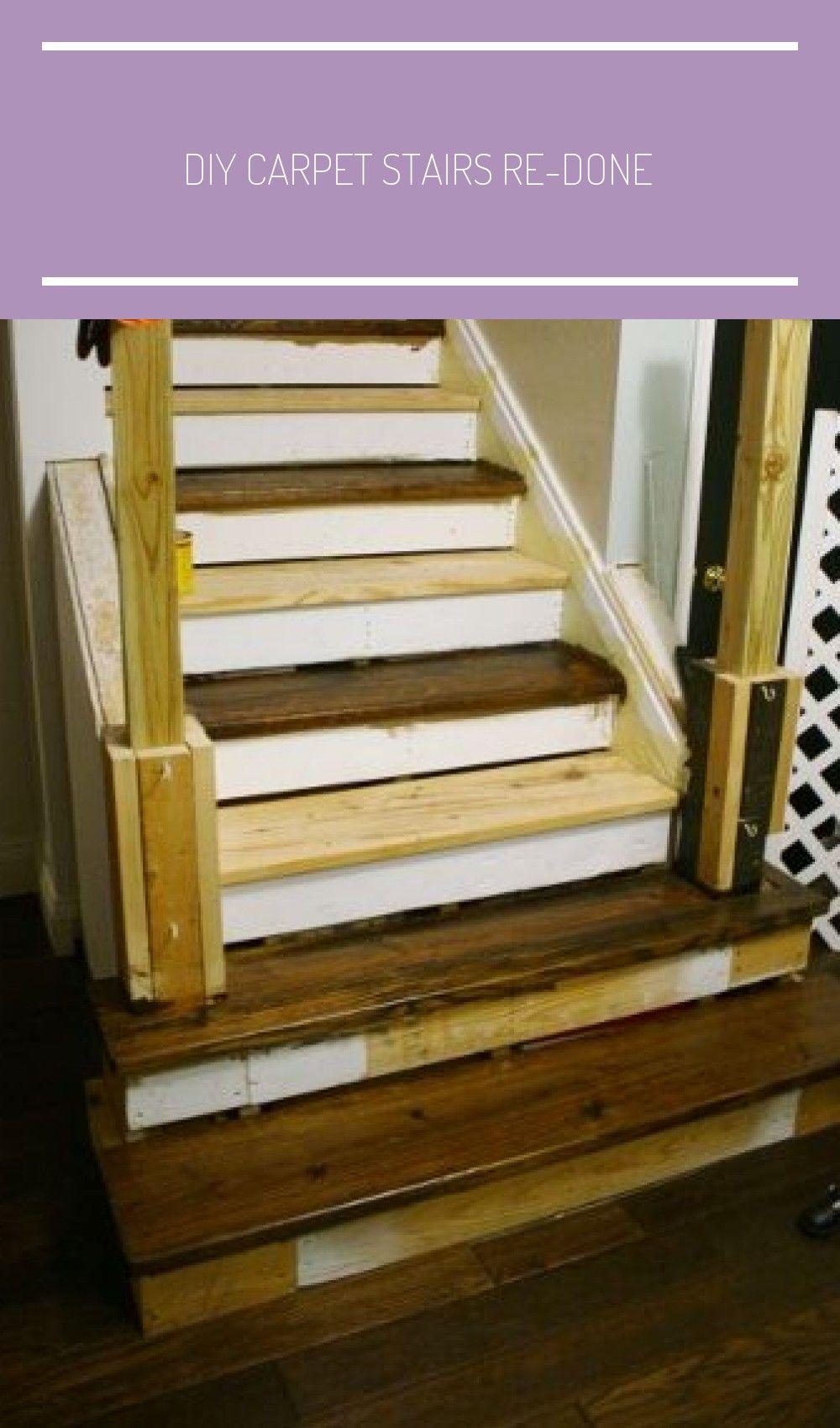 Diy carpet stairs redone to wood carpet stairs update