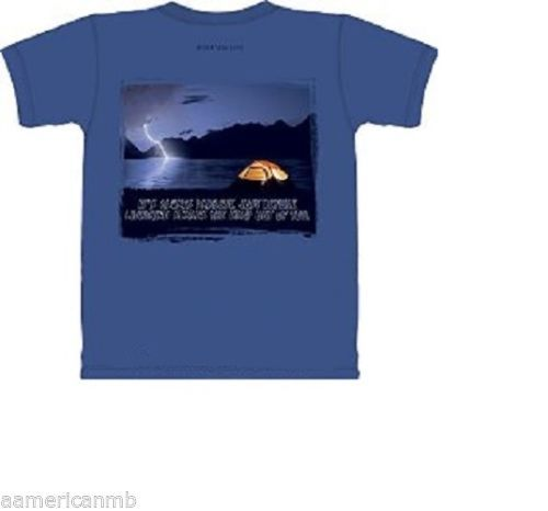Mountain Life T-shirt Hiking Size S L Green Hiker Rock Climbing Determination