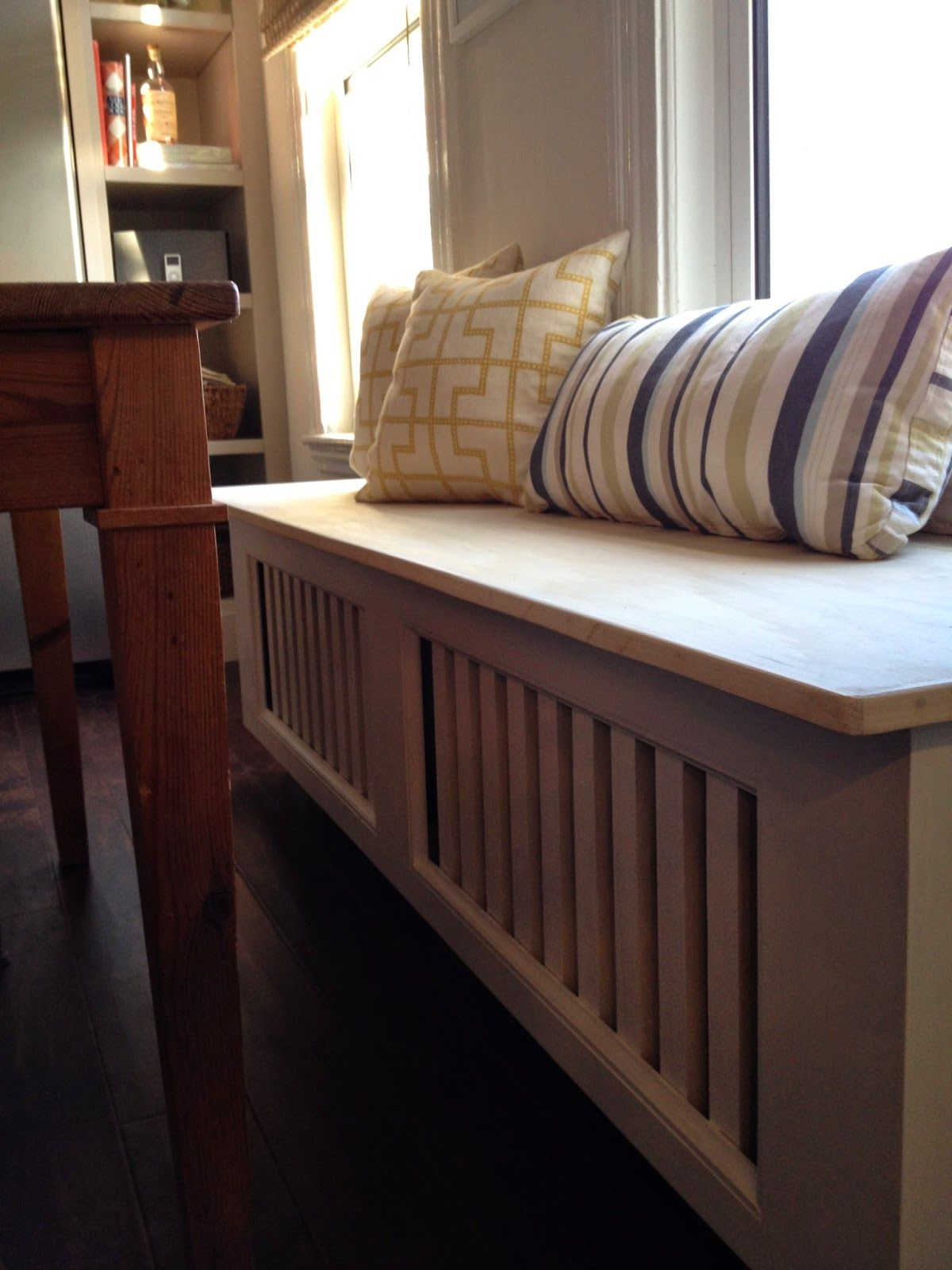 Bed under window ideas  bench radiator cover  salon ideas  pinterest  radiators house