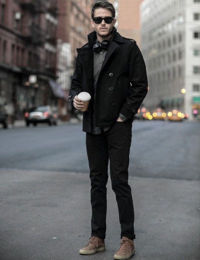 8 Cool Winter Outfits with Jeans for Men #men'sfashion