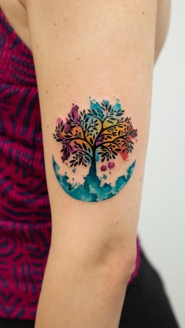 50 Beautiful And Meaningful Tree Tattoos Inspired By The Way Of Nature Meaningful 50 B In 2020 Tree Tattoo Artist Tree Of Life Tattoo
