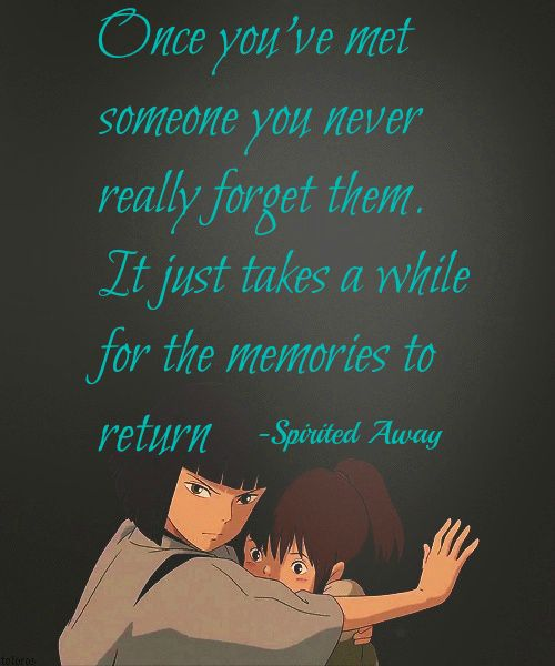 Spirited Away Quotes Adorable My Most Favorite Quote From Spirited Away  Spirited Away