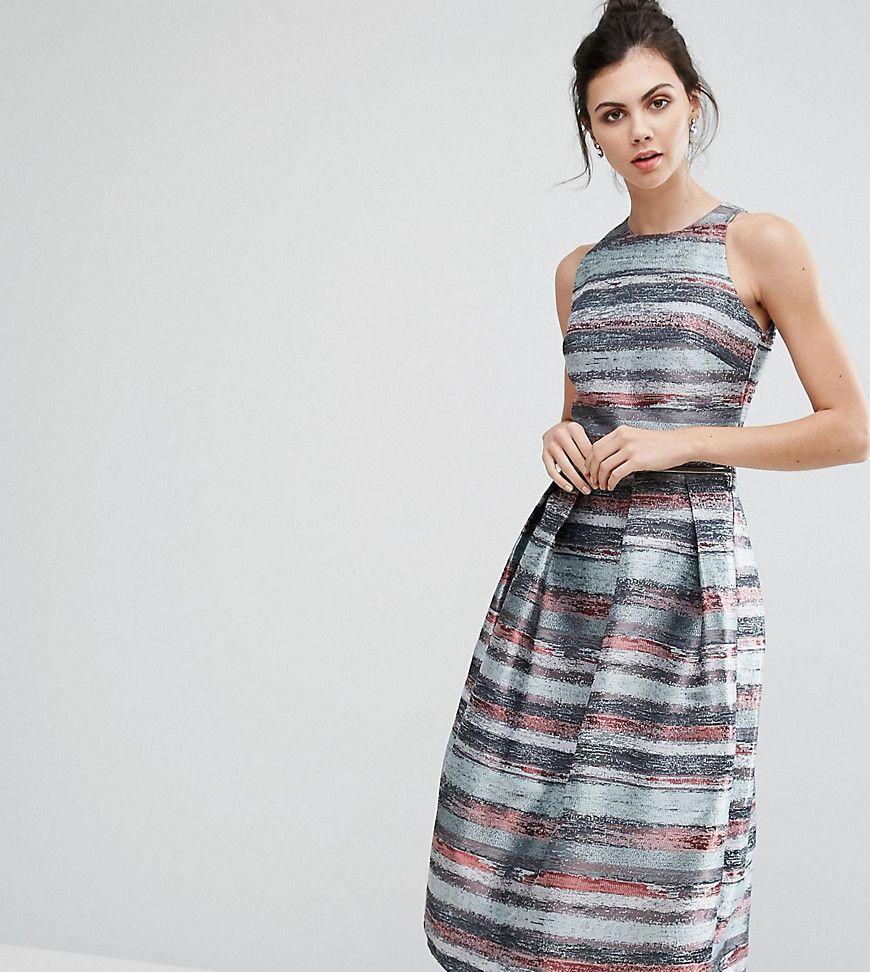Little Mistress Tall - Weites Skaterkleid aus gestreiftem Jacquard - Mehrfarbig Jetzt bestellen unter: https://mode.ladendirekt.de/damen/bekleidung/kleider/sonstige-kleider/?uid=73325634-583e-5ef8-84dd-d59c41860717&utm_source=pinterest&utm_medium=pin&utm_campaign=boards #sale #sonstigekleider #kleider #female #markenkleider #bekleidung