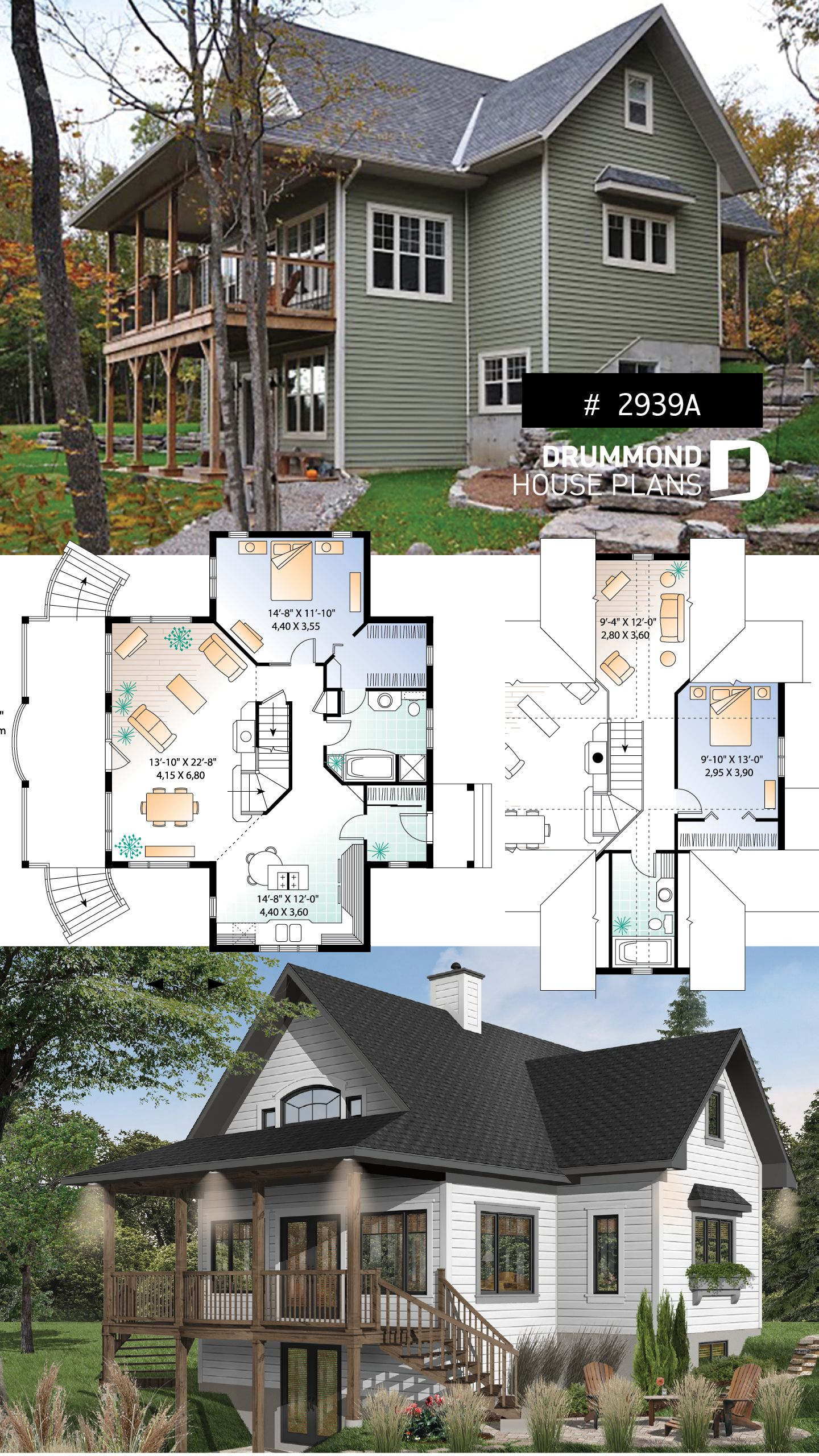 Discover The Plan 2939a Vistas 2 Which Will Please You For Its 2 Bedrooms And For Its Country Styles Cottage House Plans Cottage Plan Country Cottage House Plans